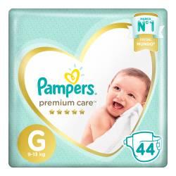 Pañal G Premium Care Híper Pampers x 44 un.