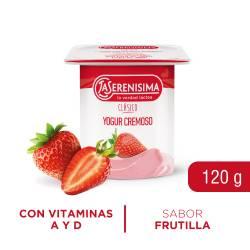 Yogur Clásico Batido Entero Frutilla La Serenísima x 120 g.