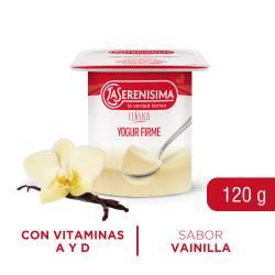 Yogur Clásico Firme Entero Vainilla La Serenísima x 120 g.