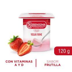 Yogur Clásico Firme Entero Frutilla La Serenísima x 120 g.