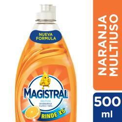 Detergente Liquido. Multiuso Naranja X5 Magistral x 500 cc.