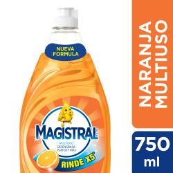Detergente Liquido Multiuso Naranja X5 Magistral x 750 cc.