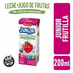 Bebida Láctea UAT Leche con Jugo de Frutilla Junior La Serenísima x 200 cc.