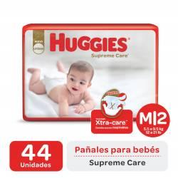 Pañal M Supreme Care Híper Huggies x 44 un.