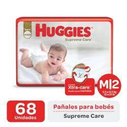 Pañal M Supreme Care Híper Huggies x 68 un.