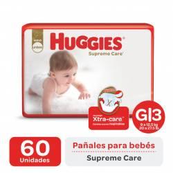 Pañal G Supreme Care Híper Huggies x 60 un.