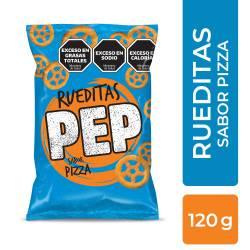 Rueditas sabor Pizza Pep x 120 g.