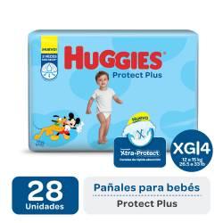 Pañal XG Protect Plus Híper Huggies x 28 un.