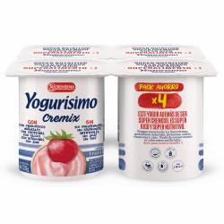 Yogur Entero Cremix Frutilla Yogurisimo x 4 un. 480 g.