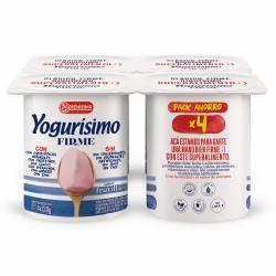 Yogur Firme sabor Frutilla Yogurisimo x 4 un. 80 g.
