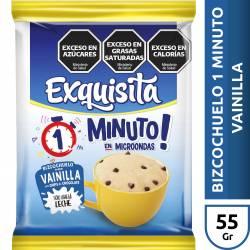 Polvo Bizcochuelo Vainilla c/Chips Exquisita x 60 g.