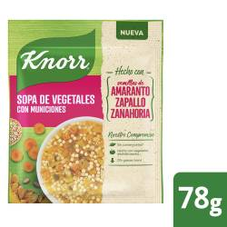 Sopa de Vegetales Knorr con Amaranto x 78 gr.
