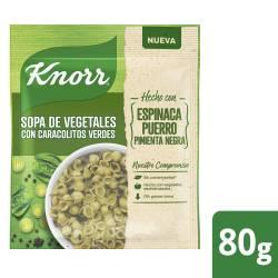 Sopa de Vegetales c/Caracol. Verdes Knorr x 80 g.