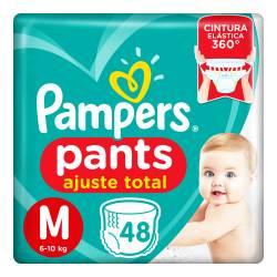 Pañal M Pants Ajuste Total Pampers x 48 un.