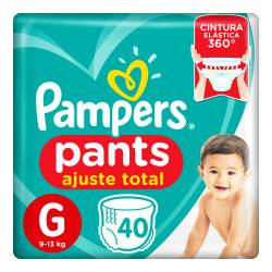 Pañal G Pants Ajuste Total Pampers x 40 un.