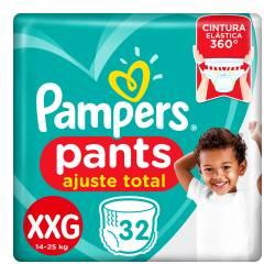 Pañal XXG Pants Ajuste Total Pampers x 32 un.
