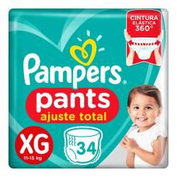 Pañal XG Pants Ajuste Total Pampers x 34 un.