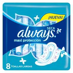 Toalla Higiénica Maxi Protección Seca Always x 8 un.
