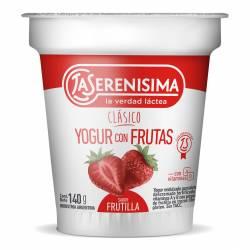 Yogur Clásico con Frutas sabor Frutilla La Serenísima x 140 g.