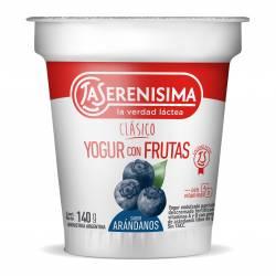 Yogur Clásico con Frutas sabor Arándanos La Serenísima x 140 g.