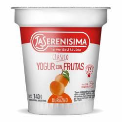 Yogur Clásico con Frutas sabor Durazno La Serenísima x 140 g.
