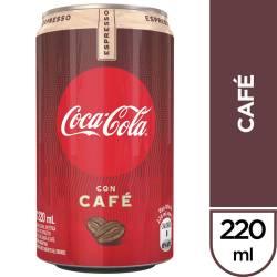 Gaseosa Cola Café Lata Coca Cola x 220 cc.