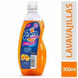 Detergente Liquido Naranja y Jeng Zorro x 300 cc.