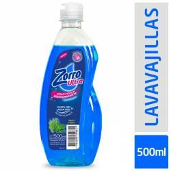Detergente Liquido Menta y Alga Zorro x 500 cc.