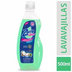 Detergente Liquido Aloe y Coco Zorro x 500 cc.