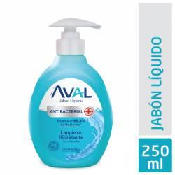 Jabón Líquido Antibacterial Limpiador Hid Disp Aval x 250 g.