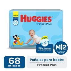 Pañal M Protect Plus Híper Huggies x 68 un.