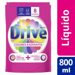 Jabón Liquido. Ropa Colores Radiantes Drive x 800 cc.