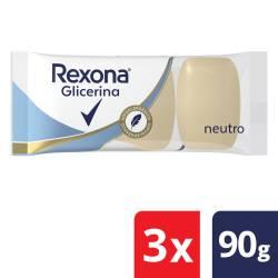 Jabón Glicerina Neutro Hipoaler Rexona x 270 g.
