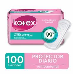 Protector Diario Antibacterial Kotex x 100 un.