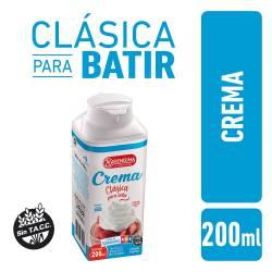 Crema de Leche Pasteurizada Tetra Top La Serenísima x 200 cc.