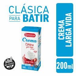 Crema de Leche Larga Vida La Serenísima x 200 cc.