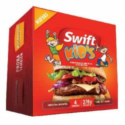 Hamburguesa de Carne Vacuna Kids Swift x 4 un. 276 g.