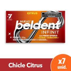 Chicles Infinit Citrus Beldent x 7 un.