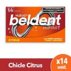 Chicles Infinit Citrus Beldent x 14 un.