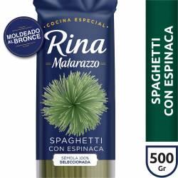 Fideos Rina Spaghetti c/ Espinaca Matarazzo x 500 g.