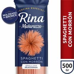 Fideos Rina Spaghetti c/ Morrón Matarazzo x 500 g.