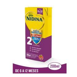 Formula Láctea 2 Zinc y Hierro UAT Nidina x 200 cc.