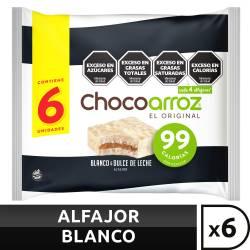 Alfajor de Arroz Chocolate Blanco Chocoarroz 6 un x 132 g.