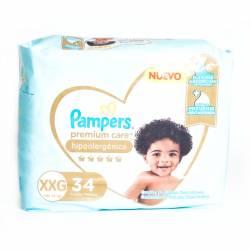 Pañal XXG Premium Care Híper Pampers x 34 un.