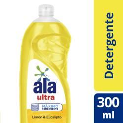 Detergente Liquido Ultra Limón & Eucalipto Ala x 300 cc.