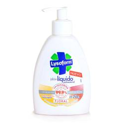 Jabón Liquido Antibacterial Floral Lysoform x 250 cc.