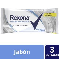 Jabón de Tocador Sensible Rexona x 3 un.