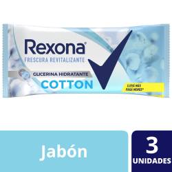 Jabón de Tocador Cotton Rexona x 3 un.