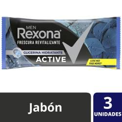 Jabón de Tocador Active Rexona x 3 un.