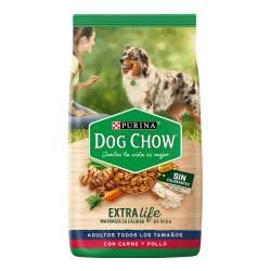 Alimento Perros DOG CHOW Sin Col Adt Car y Pll x 20 kg.